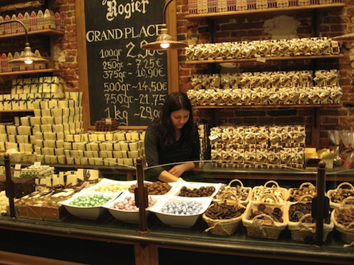 belgian chocolates grand place1 Brussels, Belgium