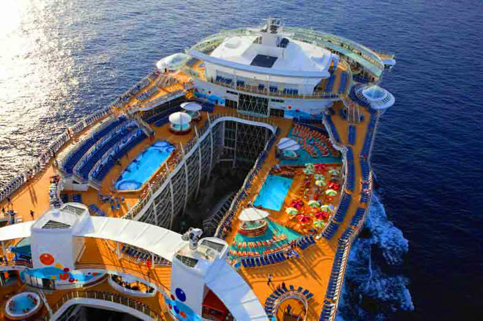 royal caribbean swimming pools