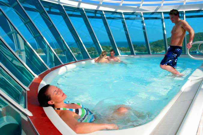 royal caribbean hot tub
